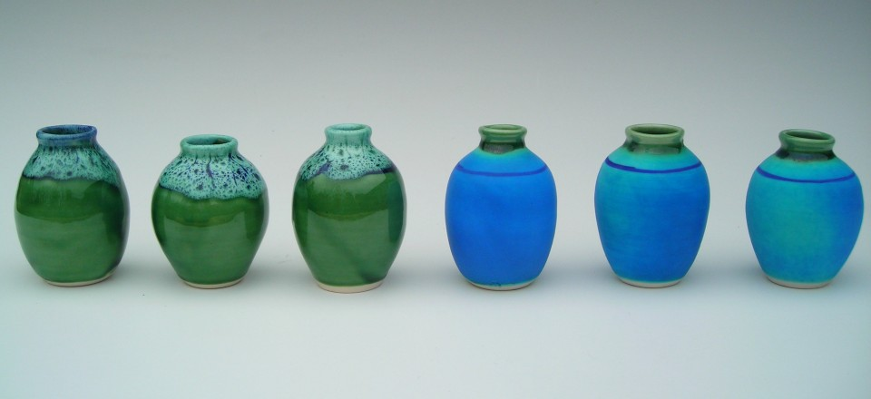 Row of Vases