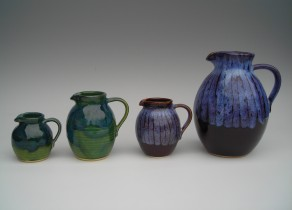 A row of jugs