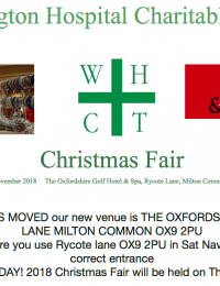 Christmas Fair – 15th November 2018 – The Oxfordshire Golf Hotel & Spa, Rycote Lane, Milton Common, OX9 2PU